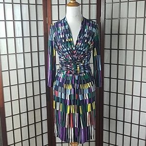 EUC BCNGMAXAZRIA FAUX WRAP DRESS